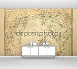 Старая карта земель Северного полярного круга