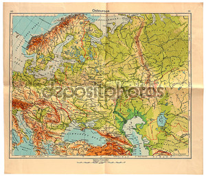Старая карта Восточной Европы в 1943 году
