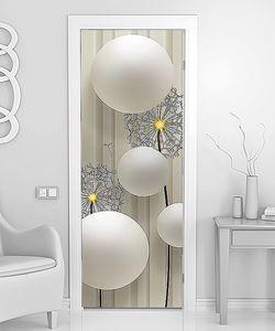 Белые шары с одуванчиками