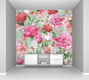 Акварель с Розовыми пионами