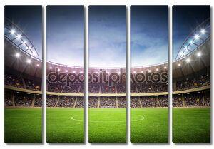 Стадион освещенный