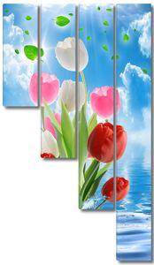 Букет тюльпанов из воды