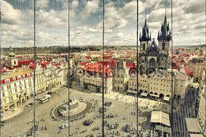 Вид на Прагу сверху