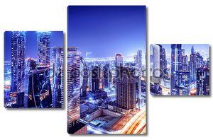 Дубай центре ночная сцена
