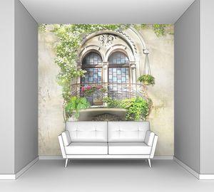 Красивое окно с балконом
