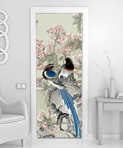 Райские птицы на цветущей ветке