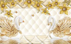 Лебеди с золотыми крыльями