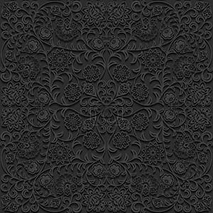 Бесшовный цветочный орнамент узор. Векторные иллюстрации