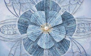 Цветок с жемчугом в центре