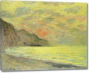 Моне Клод. Закат, Туман, Pourville, 1882