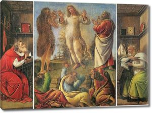 Боттичелли Преображение Господне со св.Иеронимом и св.Августином