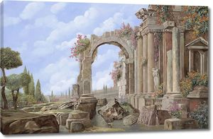 Развалины колонны арка