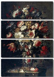 Арельяно Хуан де. Цветы в вазе II