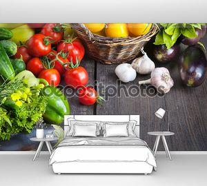 свежие овощи фермы и фрукты