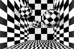 Волшебные шарики в клетчатый комнате