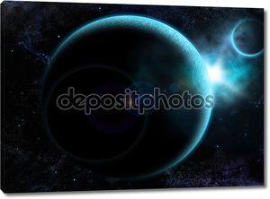 Фон с планетой