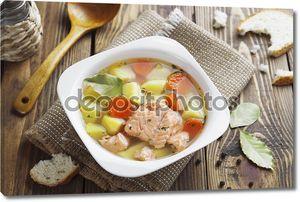 суп лосося