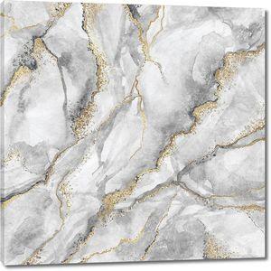 Текстура белого мрамора с золотыми жилами