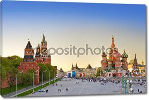Красная площадь, Москва на закате