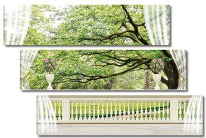 Вид на лес с террасы