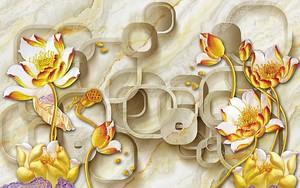 Имитация мрамора, цветы и фигуры