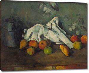 Поль Сезанн. Молочная банка и яблоки
