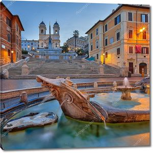 Фонтан в центре Рима