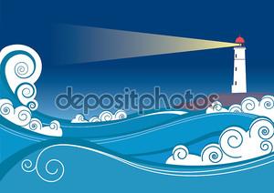 Море и маяк