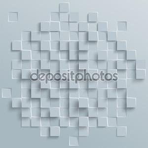 Вектор абстрактный геометрической фигуры из серого кубов или квадраты