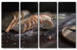 Натюрморт с хлебом и пшеницей