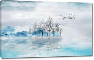 Молоко тумана на реке