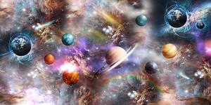 Планеты летят в космосе