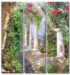 Колонны в живописном саду