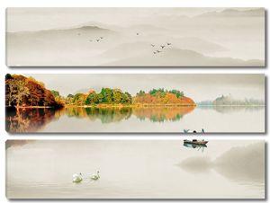 Осень на горном озере