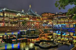 Yuyuan Сад и чайхана в Шанхае