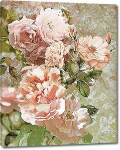 Розы, стилизация под живопись