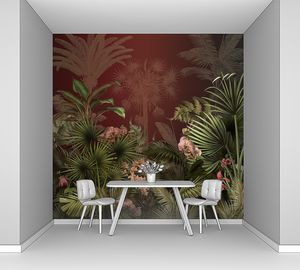 Цветущие тропические растения