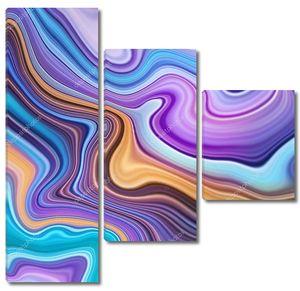 Пастельные волнистые линии