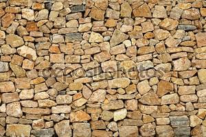 Каменная стена из старого камня