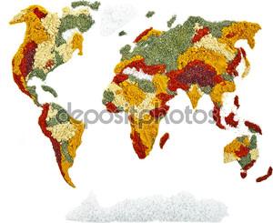 Карта мира специй и трав