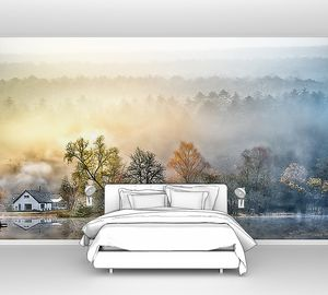 Туман по берегу реки