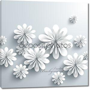 Абстрактная 3d бумажные цветы