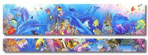 Красочный подводный мир с дельфинами