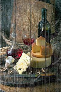 Деревенский натюрморт с сыром