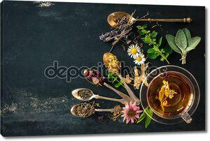 Чай с цветами и травами