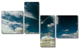 Облачное темное пасмурное небо