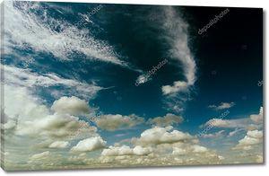 Облачное пасмурное небо