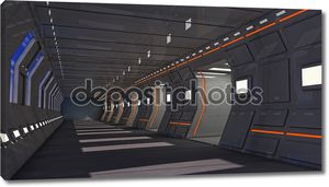 футуристический 3D интерьер тюрьмы