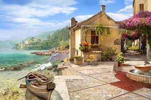 Милая улочка с маленькими домами