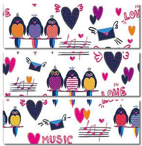 Певчие птицы с нотами